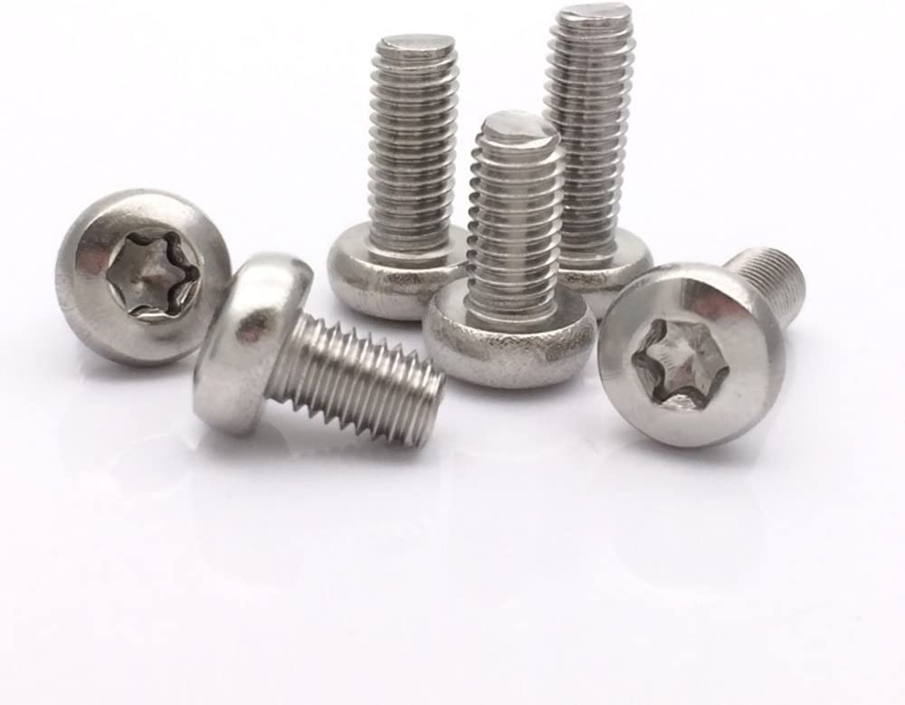 M5 Button Head Torx Socket Cap 304 Stainless Steel Machine Screw,Pack of 20-Piece M5 x 16mm