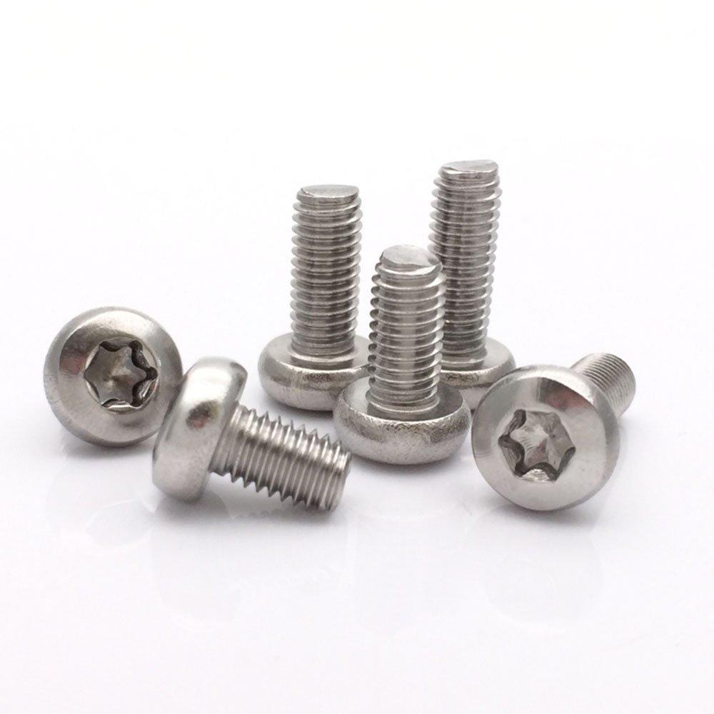 M8 Button Head Torx Socket Cap Machine Screw,304 Stainless Steel,Pack of 8-piece (M8 x 55mm)