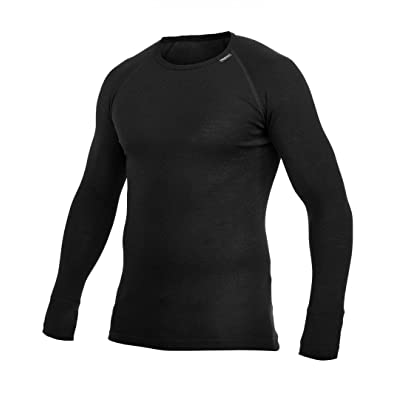 T-shirt manche longue ullfrotté lite col rond noir