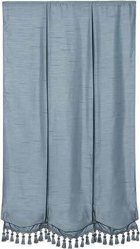 Cordless Fabric Balloon Shade Steel Blue, 39 x 64