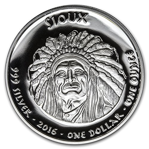 (2016 1 oz Silver Proof State Dollars South Dakota Sioux 1 OZ Brilliant Uncirculated)