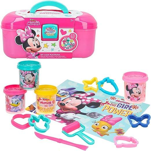 Disney Kit caja plastilina Minnie con 4 botes de 114 g accesorios y tapete (Colorbaby 77181): Amazon.es: Juguetes y juegos
