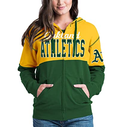 purchase cheap 6abe7 8fd28 Amazon.com : Oakland Athletics Women's French Terry Zip Up ...