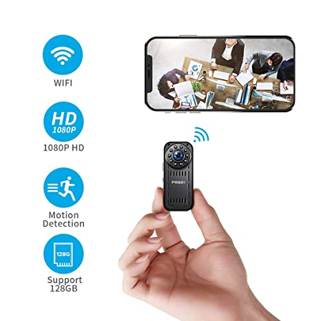 a7cface363 FREDI Hidden Camera 1080p HD Mini WiFi Camera spy Camera Wireless Camera  for iPhone Android