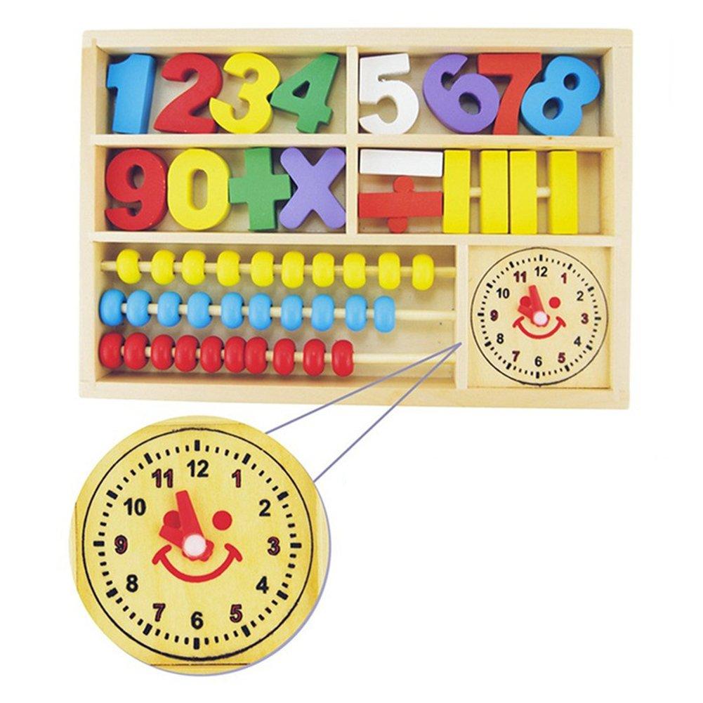 Amazon.com: Amyove Math Wooden Educational Toy Multifunction Digital ...