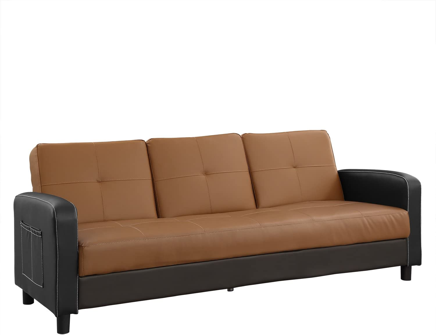 Sofas w Padded 4 Seater Faux Leather Sofa beds