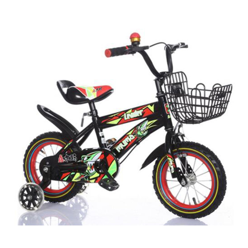 Brisk-子供時代 キッズバイク男の子用自転車サイクリング自転車、12インチ、16インチ、95%組み立て、子供用ギフト -アウトドアスポーツ (色 : Black+red, サイズ さいず : 16 inch) B07DZXWB1P 18 inch|Black+red Black+red 18 inch