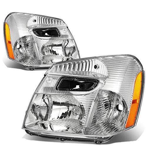Chevy Equinox SUV Sport 4-Dr Pair Chrome Housing Amber Corner Headlight Lamp Assembly