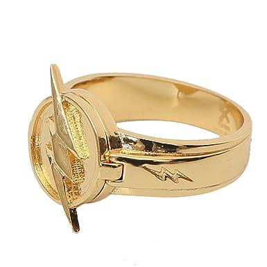 Amazon Reverse Flash Ring Cosplay Zinc Alloy Golden Ring