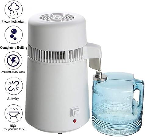 YLOVOW Destilador de Agua de encimera, máquina de destilación de Agua Pura para el hogar, máquina de fabricación de Agua destilada de 4 litros, purificador de Agua de Limpia para Uso doméstico: