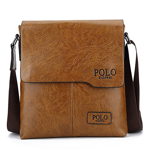 (jn1012-b) Shoulder Bag Pu Leather Mens Bag All Three Colors Of Brown Leather Bag Fashion Three Small Shoulder Bag Small Brown Water Proof