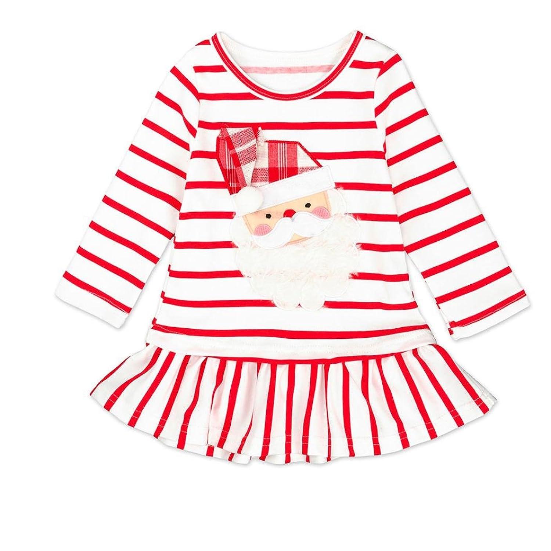 1-5 ans Bebe Fille Noel Deguisement Robe a Manche Longue