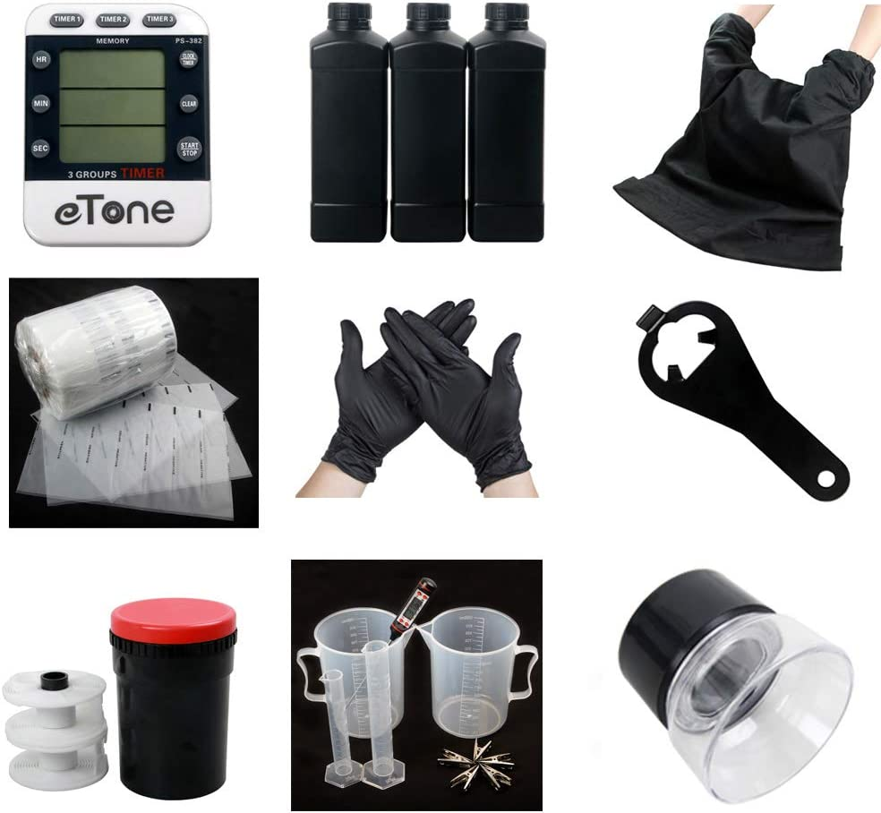 Darkroom Developing Equipment Kit Film Processing 120 135 35mm Color B&W Film