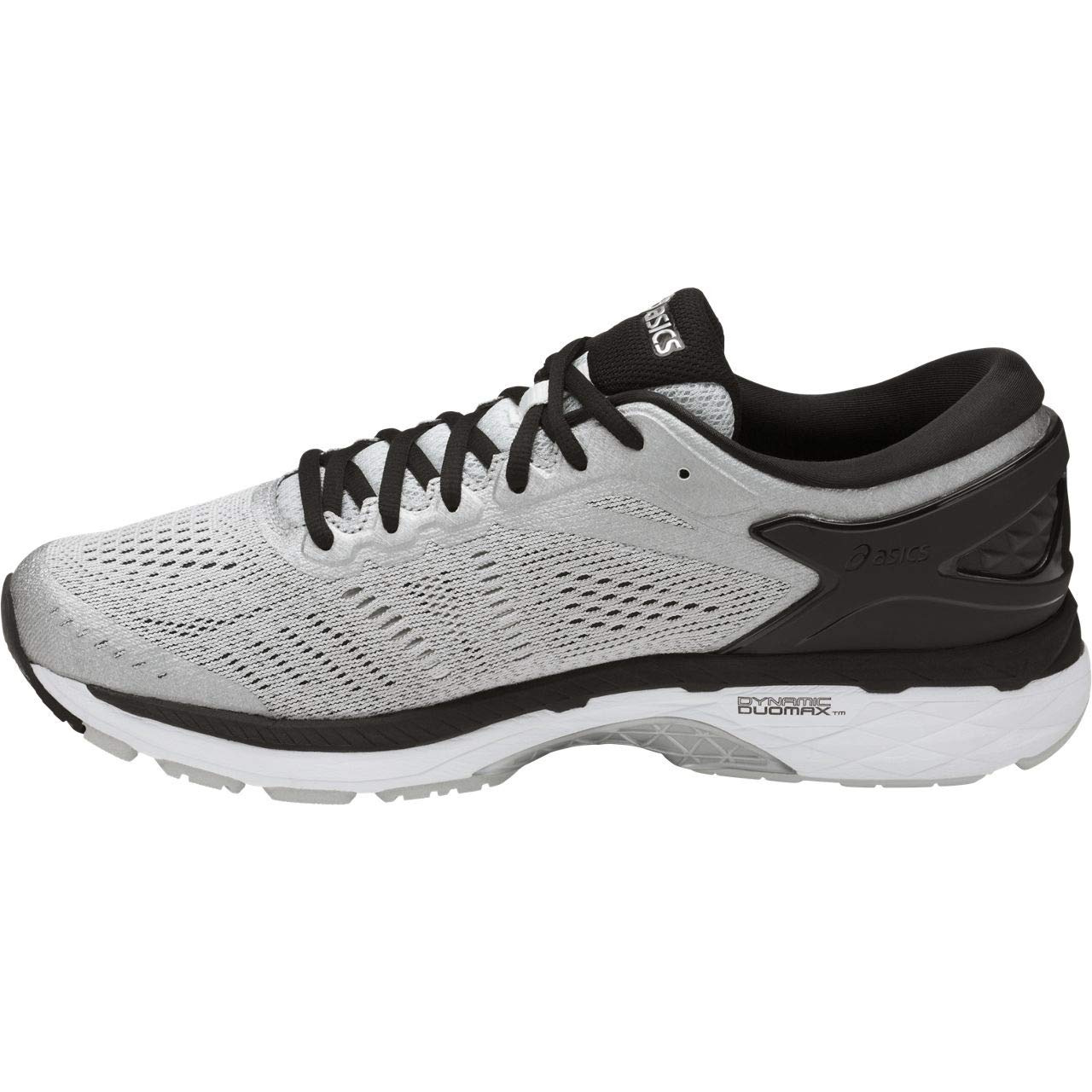 ASICS Mens Gel-Kayano 24 Running Shoe, Silver/Black/Mid Grey, 6 2E US by ASICS (Image #2)