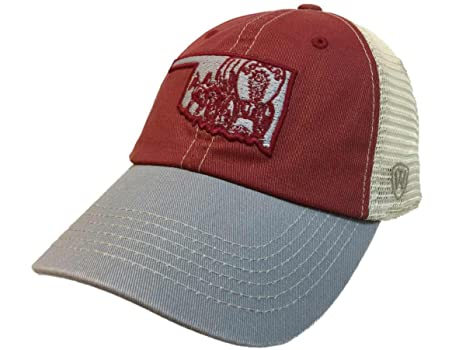 the best attitude 8f3ea c7aa7 Image Unavailable. Image not available for. Color  Top of the World  Oklahoma Sooners Tow United Mesh Vintage Logo Adj Snapback Relax Fit Hat