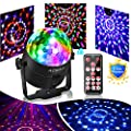 Party Ball Light Disco Lights Mini Disco Ball 6 Colors Stage Lights With Remote Control, Sound Motion Sensor Stage Lights for Indoor Kid's Parties, Bar, Dancing, Wedding. Upgraded Version from ACBAGI