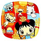 """Amscan Playful Ni Hao Kai Lan Birthday Party Divided Lunch Paper Plates Tableware (8 Pack), 9"""", Red/Yellow"""