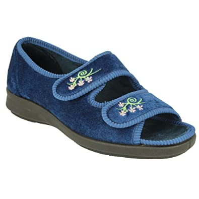 af6cf1a1493 Db Shoes Womens Ace 2 Velcro Wide Fitting Slippers  Amazon.co.uk ...