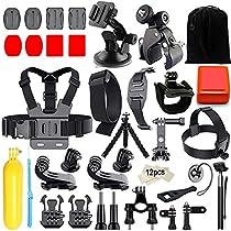 Iextreme 45 in 1 Accessori Kit per Gopro Hero 6 5 4 3 2 1, Hero 5 Black,Gopro Hero 5 Session,Xiaomi Yi,SJCAM SJ9000 SJ6000 SJ5000,Sony Action Camera