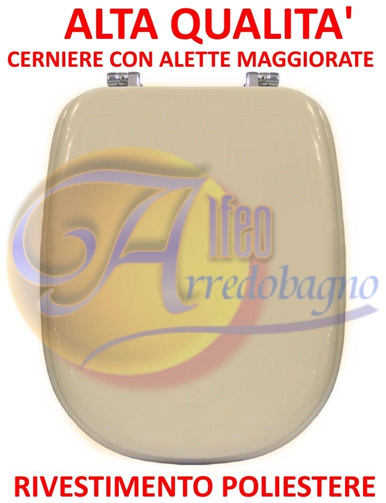 Copriwater sedile wc IDEAL STANDARD TESI champagne coprivaso POLIESTERE ALTA QUALITA' POLISEDIL