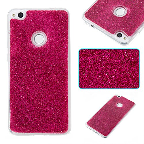 Housse Lite Paillette 2017 Coque Hut Brillante P8 Protection Cozy Luxe Coque P8 Lite Rose Rouge Huawei Lite P8 Strass Bling de 2017 Glitter Huawei de 2017 Huawei Silicone Ultra F Bling Coque Etui wq0arxUFq