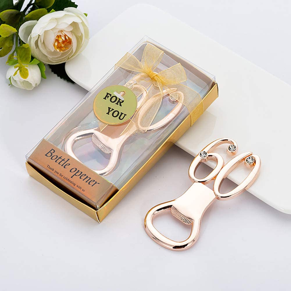 unlockgift Numero 50 Bottle Opener 50th Birthday Party Gifts 50th Anniversary Wedding Favors Souvenir Regalo per Gli Ospiti 10 Pezzi