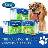 Pet Soft Disposable Male Wrap Dog Diaper,12Pcs,S