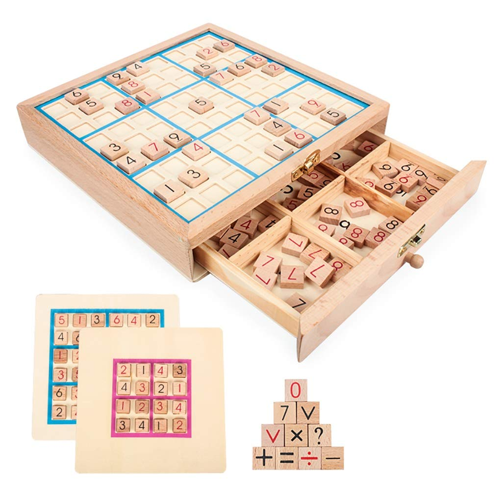 WRYWTH Sudoku Game Chess Four or six Squares Puzzle Toy 4-6 Years of Concentration Training by WRYWTH