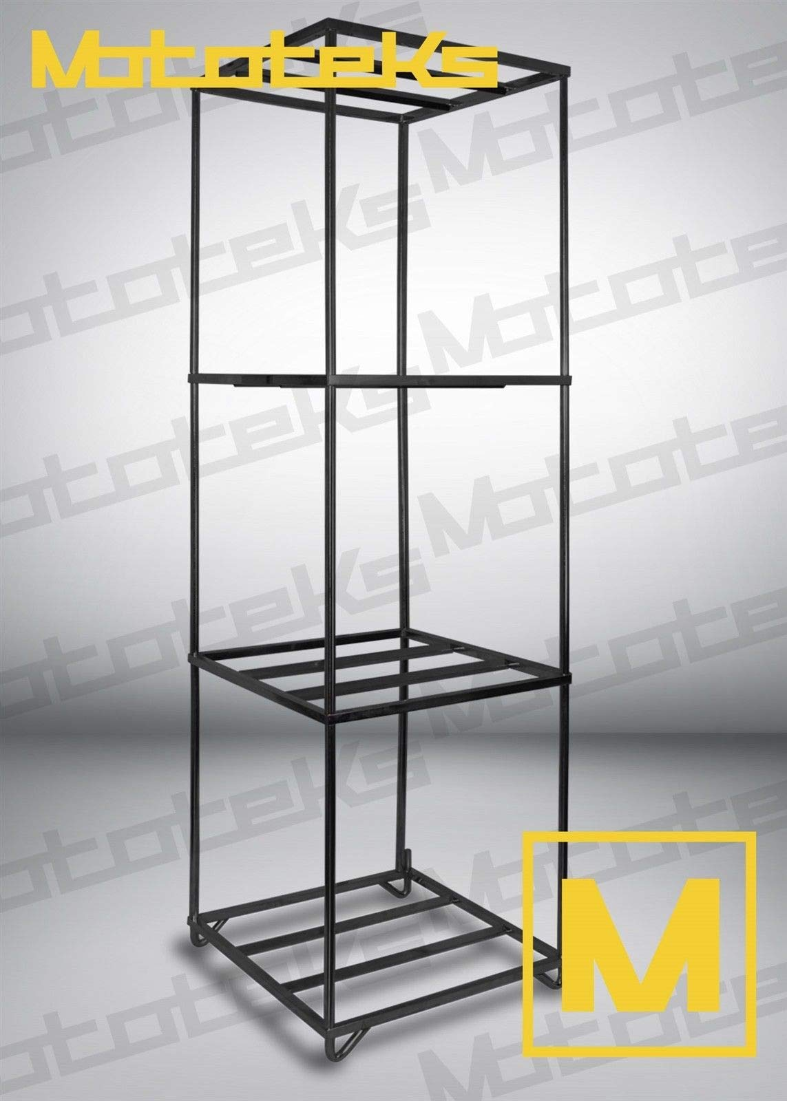 Mototeks, Inc. Wheel Display Rack for Rims and Wheels UP to 22'' Showroom Rack Black