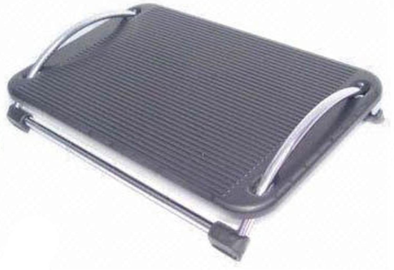Poggiapiedi Regolabile ergonomico pedana antiscivolo x scrivania, tavolo porta pc, casa ufficio Techly