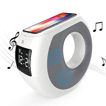 Altavoz con Bluetooth, Cargador inalámbrico, Reloj ...