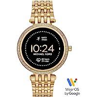 Michael Kors Damski smartwatch Gen 5E Darci z ekranem dotykowym z głośnikiem, funkcją pomiaru tętna, GPS, NFC i…
