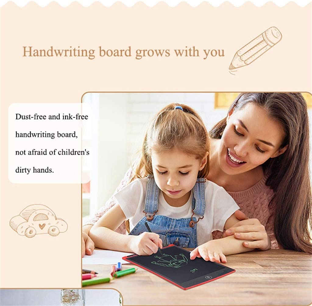 Easy to Carry Children Pre-School Graffiti Training Students Pink 8.5-Inch LCD Tablet//Light Energy Small Blackboard