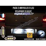 Pack Bombillas LED iluminación placa para Volkswagen Golf 4