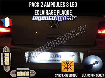 Pack Bombillas LED iluminación placa para Volkswagen Golf 4: Amazon.es: Coche y moto