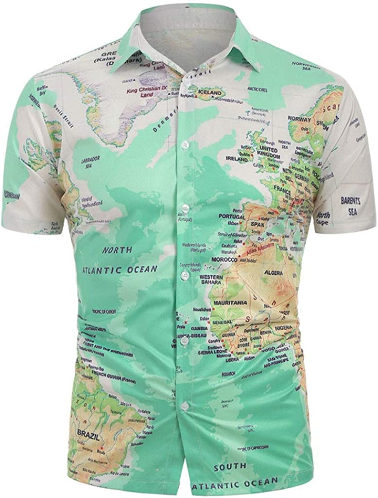 US Mens Long Sleeve T-Shirts Button Down Cotton Lapel Shirt Top Casual Shirt Tee