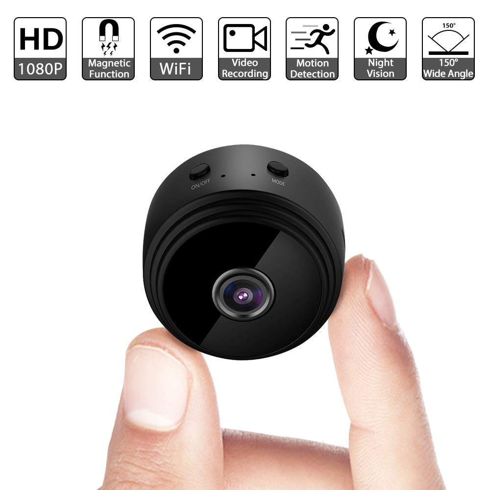 Mini Spy Camera WiFi Wireless Hidden Video Camera 1080P Full HD Small Nanny Cam with Night Vision Motion Activated Indoor Covert Security Cameras Surveillance Cam for Car Home Office iPhone Android by Alihomy
