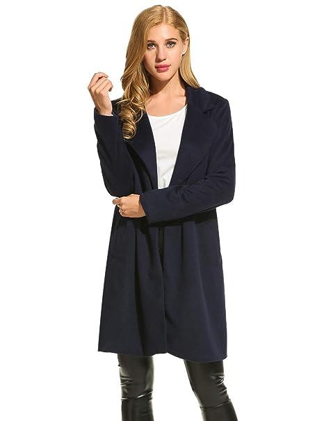 CRAVOG Abrigos de mujer invierno elegantes largos baratos tallas grandes: Amazon.es: Ropa y accesorios