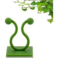 100pcs Clips de Pared para Escalar Plantas, Clips de Soporte de Plantas, para Interiores Clips Adhesivos Vides de Pared…