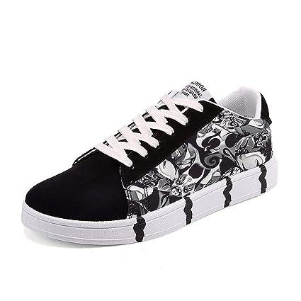 38f3aa4a1eade Amazon.com : KMJBS Men's Sneakers Printed Board Shoes Men's Korean ...