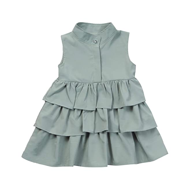 Amazon.com: Chitop Newborn Kid Baby Girls Party Dress - Sleeveless O ...
