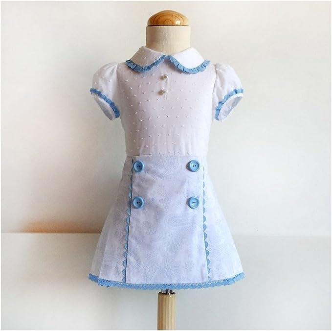 Patrón de costura falda niña con tablas, con vídeo-tutorial para ...