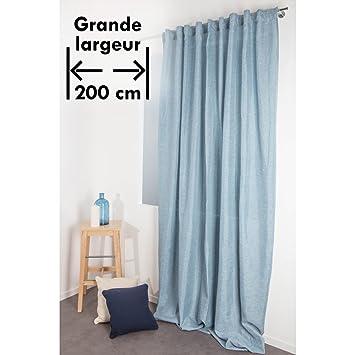 Rideau Effet Chiné 200 x 270 cm Grande Largeur et Grande Hauteur à ...