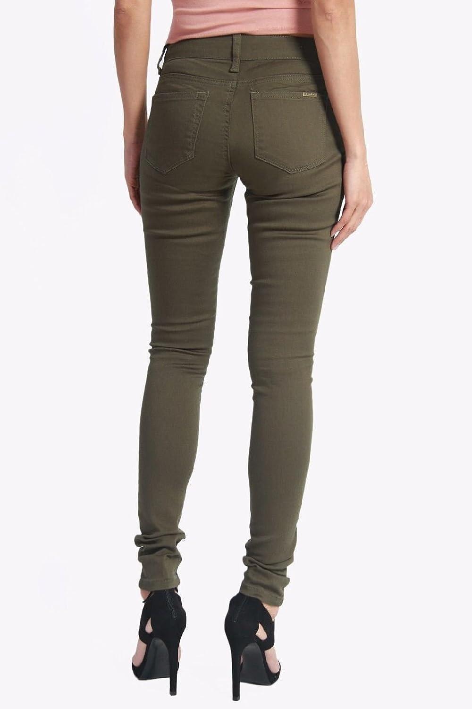 Dustin Clothes Womens Juniors Low Rise Denim Skinny Jeans Utility Work School Uniform