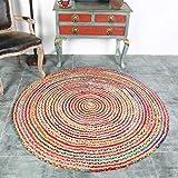 QYSZYG Handmade Mat Jute Round Home Blanket Living Room Bedroom Tatami Mat Ethnic Wind Carpet carpet (color : A)