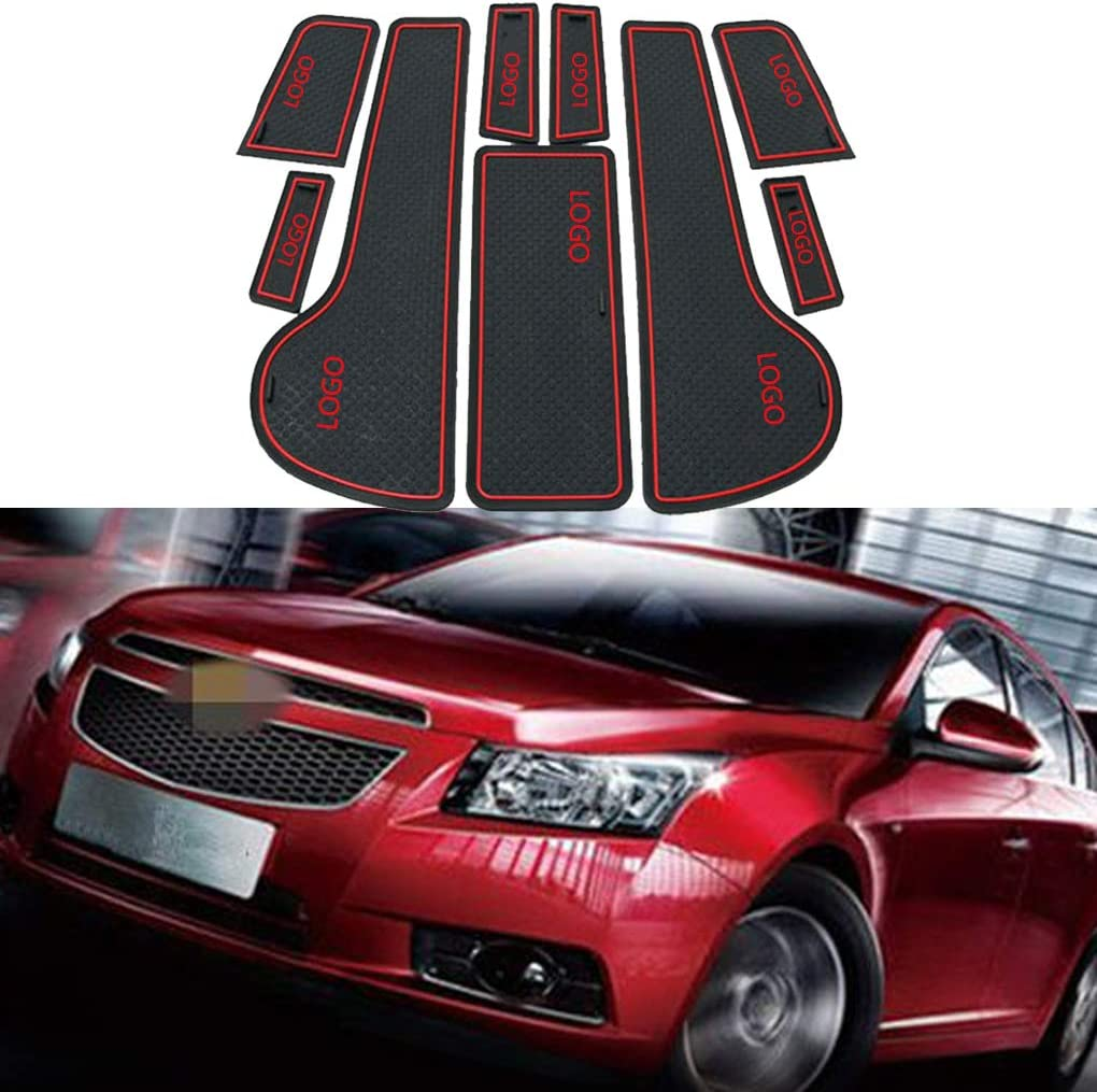 Deinbe Replacement for Cruze 2009-2014 Car Dust-proof Gate Slot Pad Auto Cup Mat Door Groove Cushions