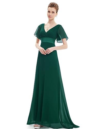 Ever Pretty Women's Short Sleeve V-Neck Long Evening Dress 09890