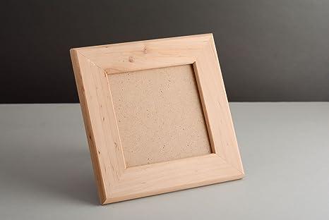 Originale cornice portafoto in legno grezzo da decorare: amazon.it