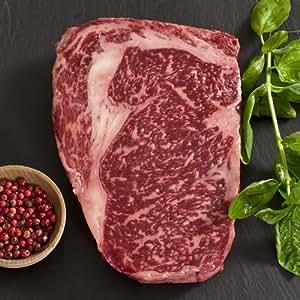 Wagyu Beef Rib Eye Steak - Marble Grade 8 - Whole, Cut To Order - 11 lbs cut to 1-inch steaks