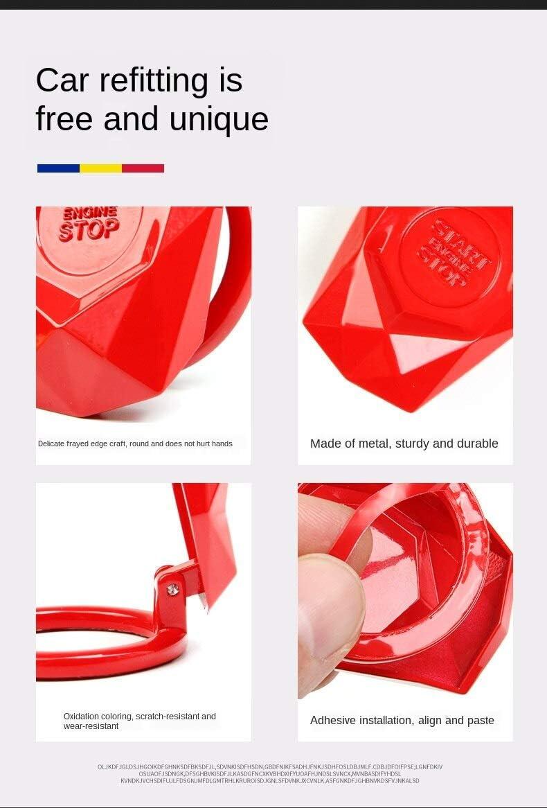 Auto Knopfabdeckung Auto Start-stopp-Schalter Knopf Schalter Abdeckung Z/ündschalter Druckknopf Cover Start Stop Engine Knopf Schalter Schutz Kappe Taste Tastenabdeckung Z/ündschl/üssel Cover Z/ündung